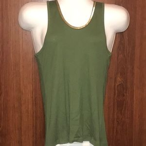 SEQUINS TANK TOP, Sz XL, GREEN, NWOT